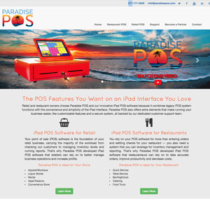 Web Design for Paradise POS
